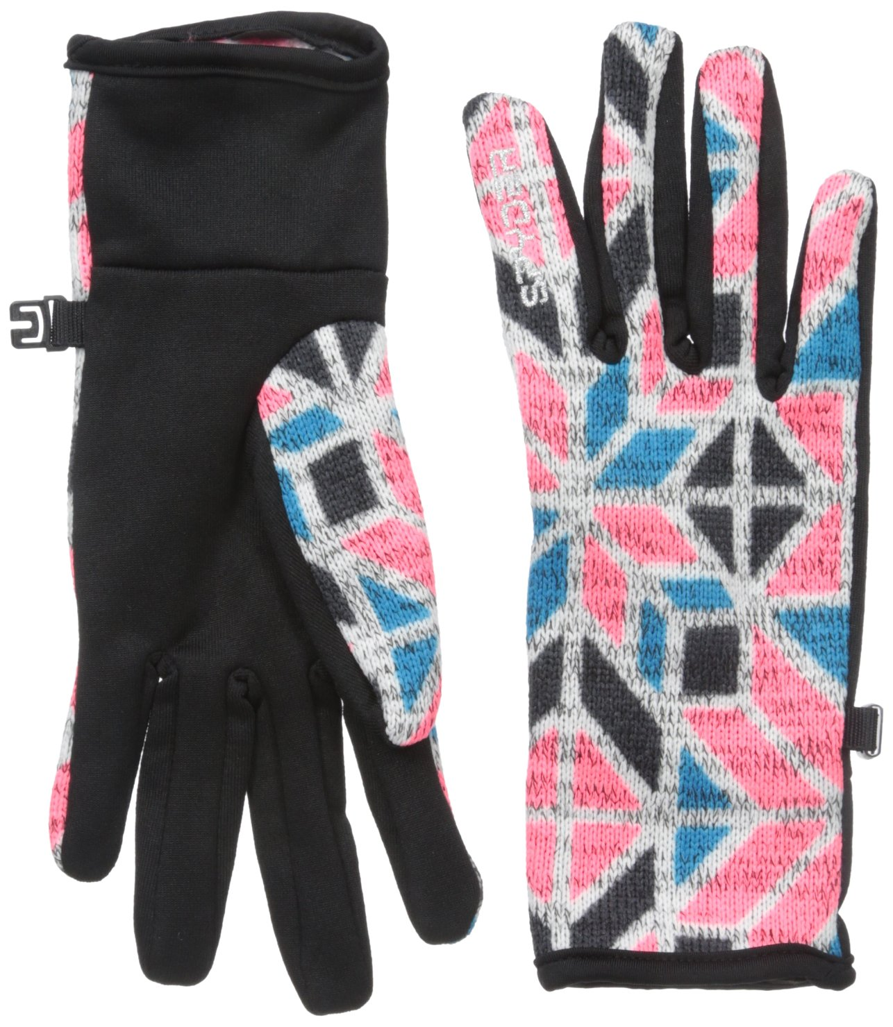 Spyder Women's Alpine Chic Gloves, Bryte Pink Stained Glass, X-Small