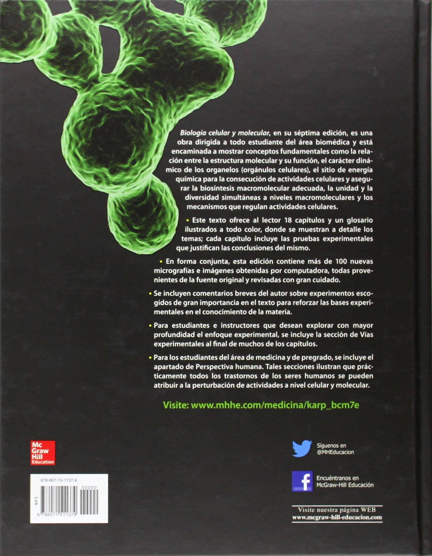 BIOLOGIA CELULAR Y MOLECULAR: Amazon.es: Gerald Karp: Libros