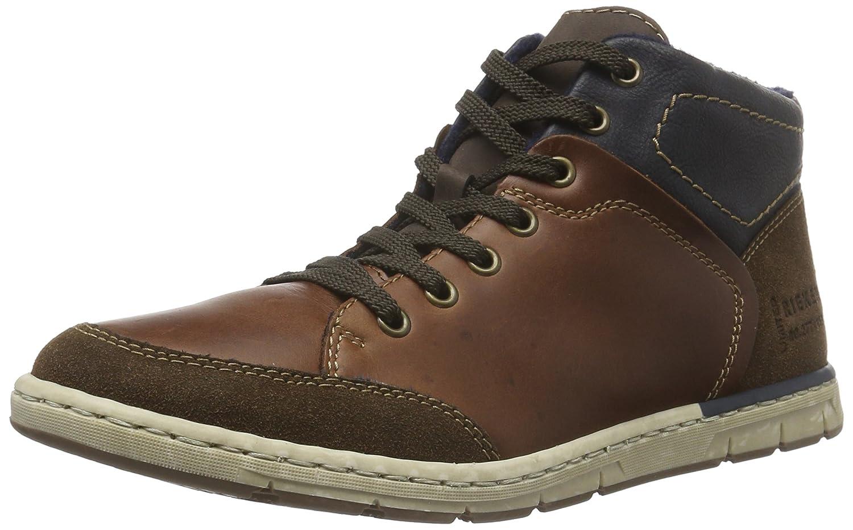 Rieker mens lace-up boots cigar/marron/ocean