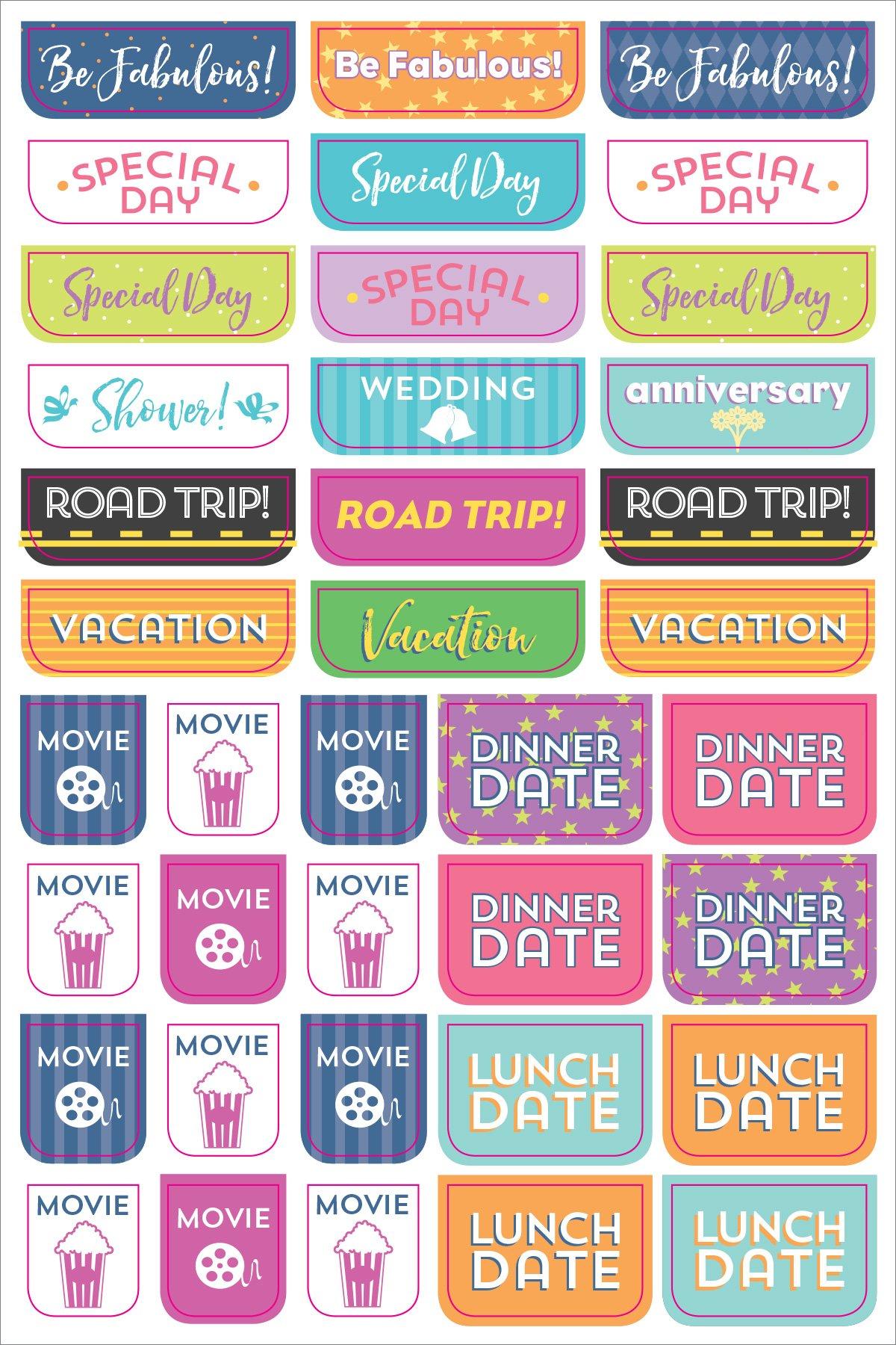 Essentials Weekly Planner Stickers (Set of 575 Stickers ...