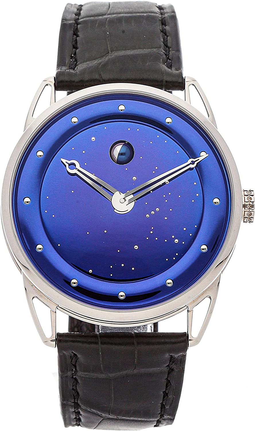 De Bethune DB25 Mechanical (Hand-Winding) Blue Dial Mens Watch DB25LWS3V2 (Certified Pre-Owned)