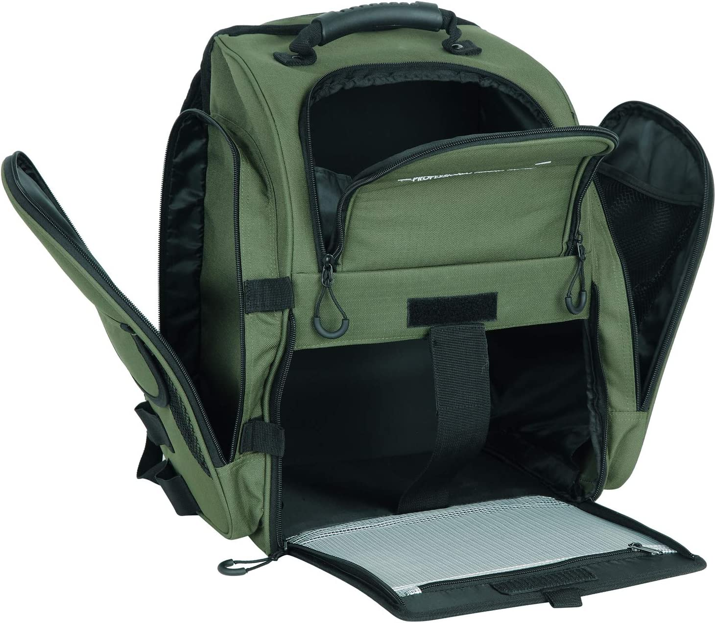 AUMTISC Fishing Backpack Large Tackle Bag with Protective Rain Cover and 4 Trays Tackle Box