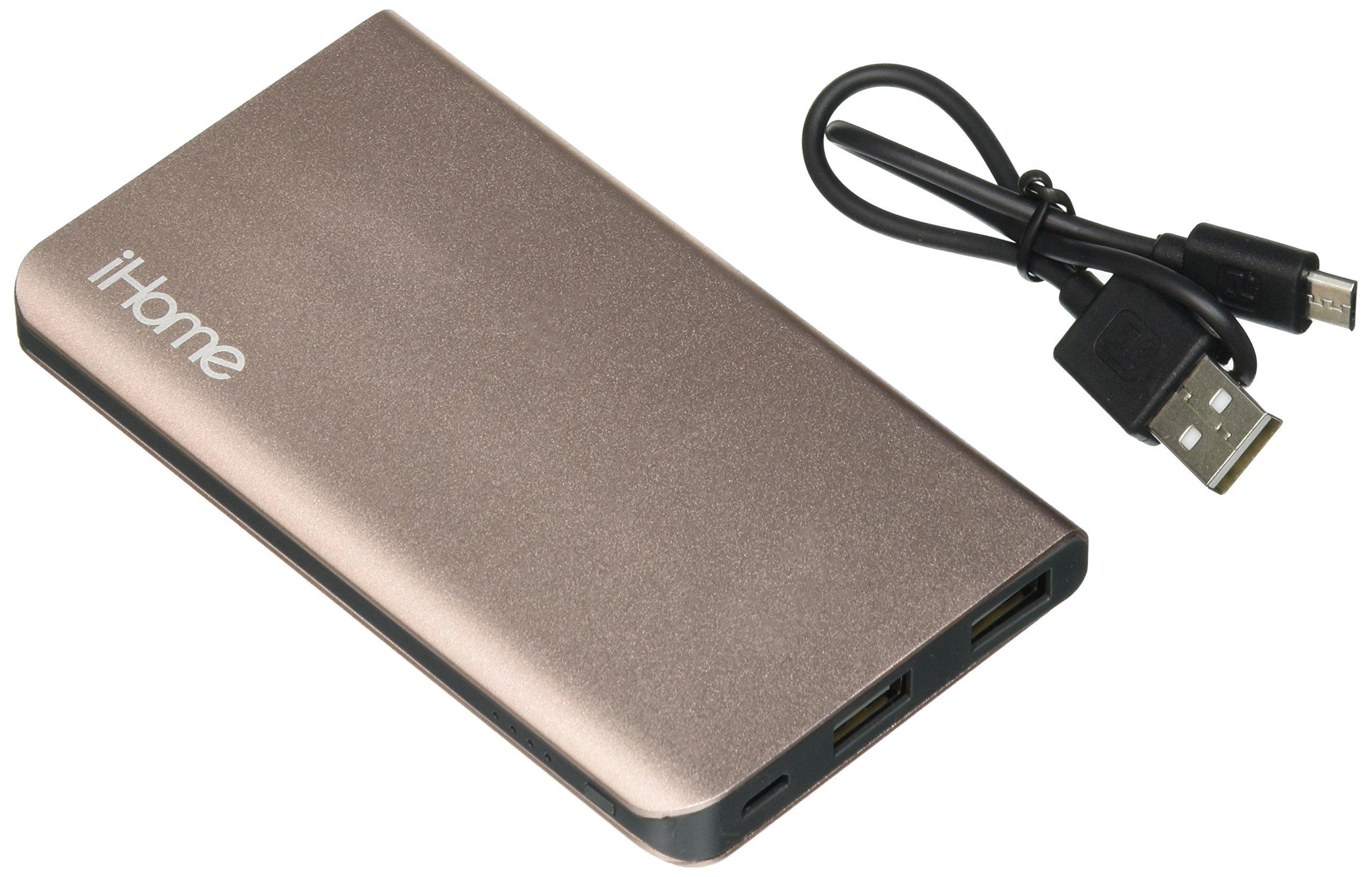 iHome External Battery Pack - ROSE GOLD
