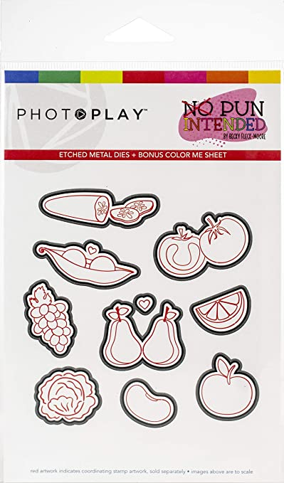 Photoplay Paper NPI9478 PhotoPlay Etched Die-Fruits /& Veggies No Pun Intended Multi