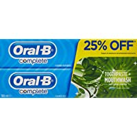 Oral B Complete Extra Fresh Mint Toothpaste, 2 x 100 ml