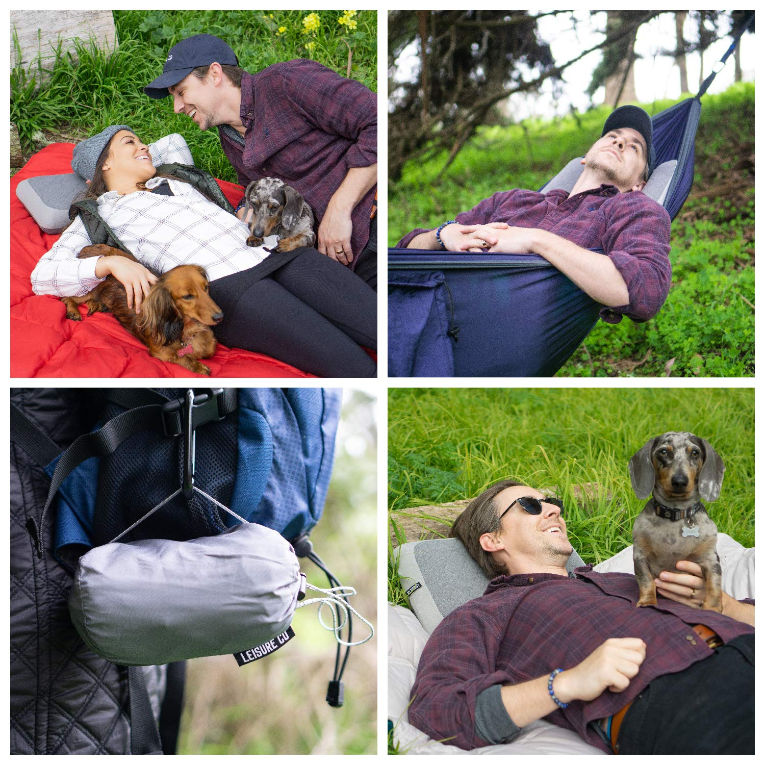 Perfect Compact Inflatable Pillow for Backpacking Back Lumbar Support Leisure Co Ultra-Portable /& Ultralight Camping Pillow Travel Planes and More! Camp Trips