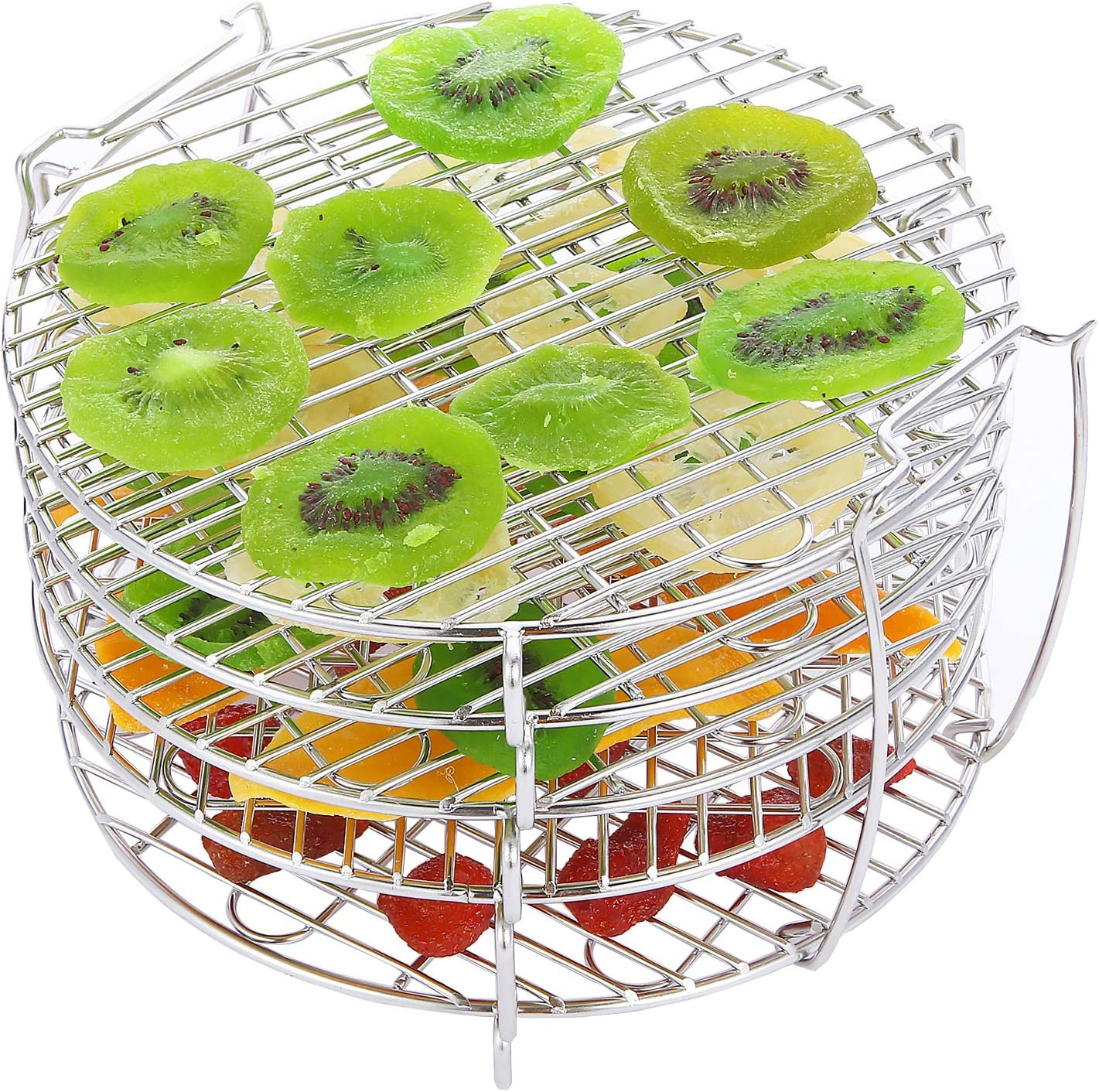 Dehydrator Rack for Ninja Foodi Accessories, Dehydrate Fruits and Meats, Food Grade 304 Stainless Steel, Five Stackable Layers Compatible with Ninja Foodi Pressure Cooker and Air Fryer 6.5qt and 8 qt