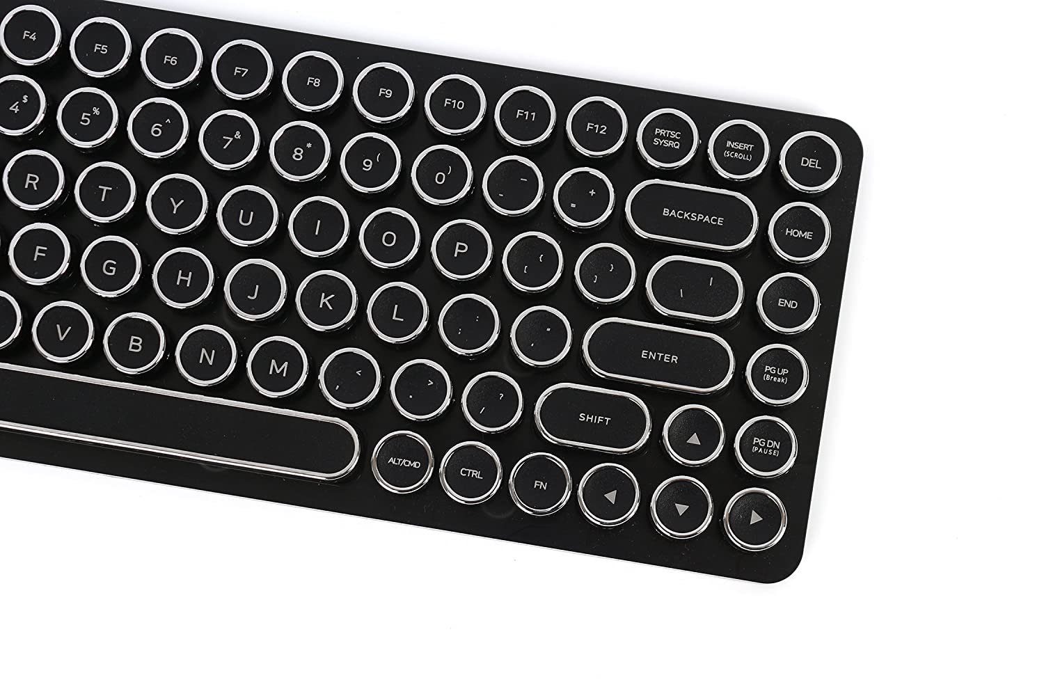 lowest price d5dc4 f1884 Amazon.com  Elretron Penna Keycaps Set for Penna Keyboard US Key Layout  (Chrome Black)  Computers   Accessories