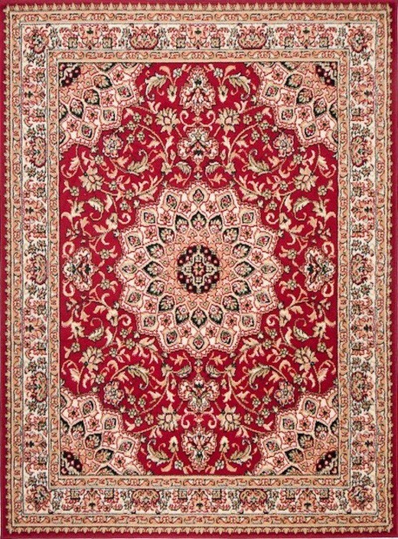Tapiso Atlas Teppich Klassisch Kurzflor Orientalisch Ornament Ornament Ornament Medaillon Muster Rot Beige Wohnzimmer Esszimmer ÖKOTEX 140 x 200 cm B01N1QGNTP Teppiche 2aa46b