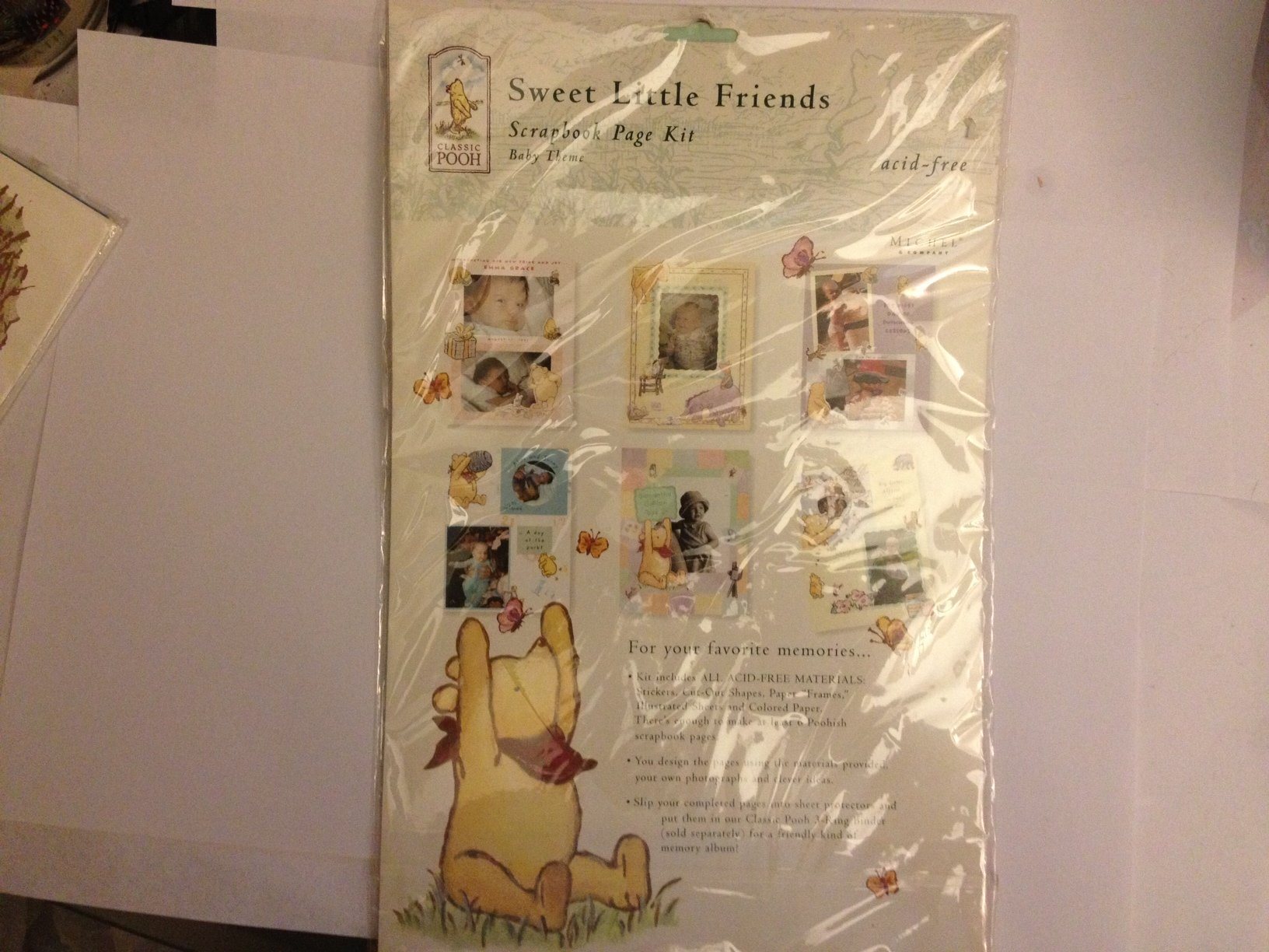 Sweet Little Friends Scrapbook Page Kit - Baby Theme