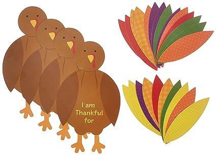 amazon com amscan festive fall thanksgiving party turkey craft kit