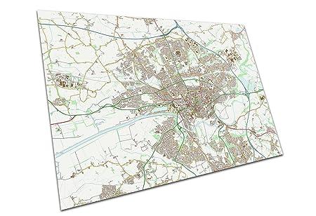 Preston England Map.Eaposter Preston England Map A1 Poster Print Art 594 X 841 Mm