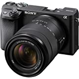 Sony Alpha 6400 Mirrorless Camera with 18-135mm OSS Lens, 24.2 MP, Black, ILCE-6400M