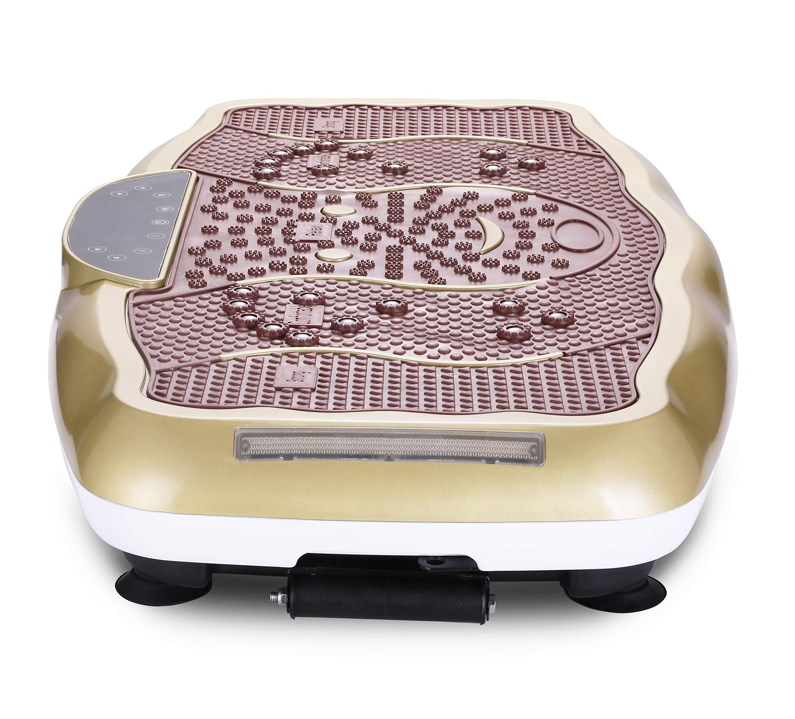 TODO Vibration Platform Power Plate Wholebody Vibrating Massager- Remote Control/Bluetooth Music/USB Connection(Gold-Smile) by TODO (Image #6)
