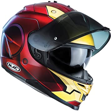Casco Moto Hjc Marvel Is-17 Ironman Rojo-Oro (Xxs , Rojo)