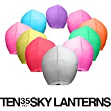 Colorful Chinese Paper Lanterns Mixed (10) Pack - Ready to Use and Eco Friendly - 100% Biodegradable - Beautiful Design Sky Lanterns for Special Occasions, Weddings, Parties, Chinese Festival, etc.