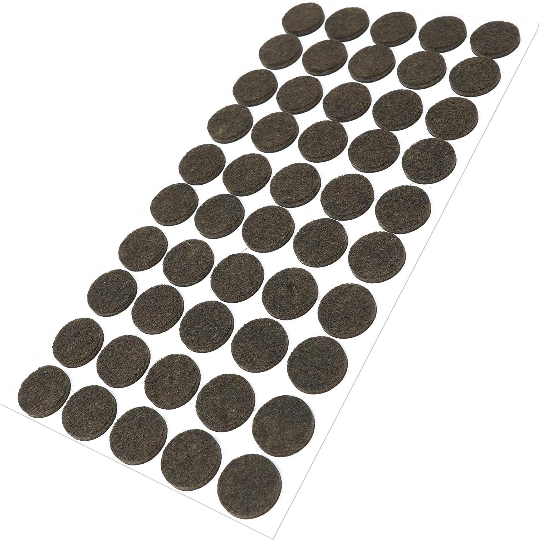 20 mm Silencer Patins pour meubles avec surface en feutre silencieuse Design61 Lot de 8 patins en feutre pour chaises /Ø 18