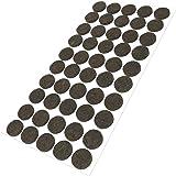 50 x Feltrini | Ø 20 mm | marrone | tondi | Piedini mobili in feltro autoadesivo di 3.5 mm di spessore di alta qualità da Adsamm