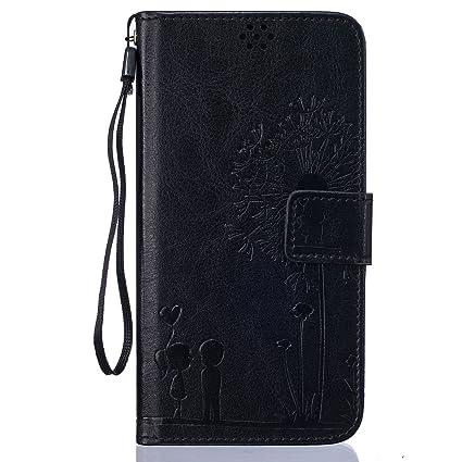 Beiuns Funda de PU Piel para Xiaomi Redmi Note 3 / Note 3 Pro (5,5 Pulgadas) Carcasa - TX522 Noble Negro