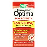 Nature's Way Primadophilus Optima Max Potency 100 Billion Vegetarian Capsules, 30 Count