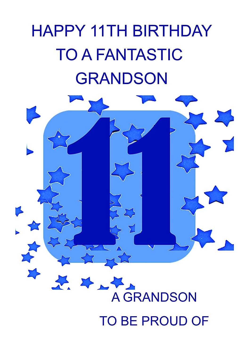 Grandson 11 Birthday Card Amazoncouk Office Products