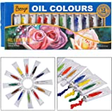Bianyo Artist Quality OIL Color Tubes Paint Set - 12ml Tubes, 12 Shades