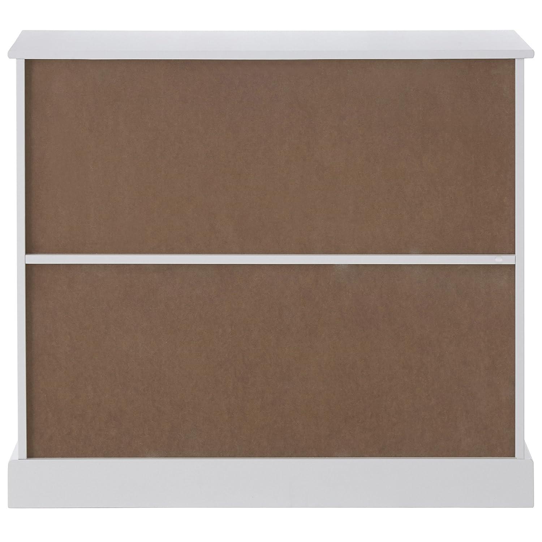 Premier Housewares Estanter/ía de 2 estantes tablero dm, 65 x 70 x 30 cm color blanco