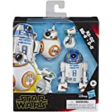 "Star Wars Galaxy of Adventures R2-D2, BB-8, D-O Action Figure 3 Pack, 5"" Scale Droid Toys with Fun Action Features, Kids Ages"