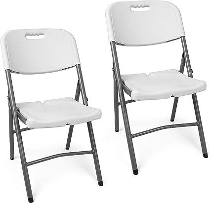 2x jardin chaises pliantes noir pour la terrasse /& Balcon Camping Chaises de cuisine Chaises