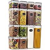Wildone Airtight Food Storage Containers - BPA Free Cereal & Dry Food Storage Containers Set of 14 for Sugar, Flour…