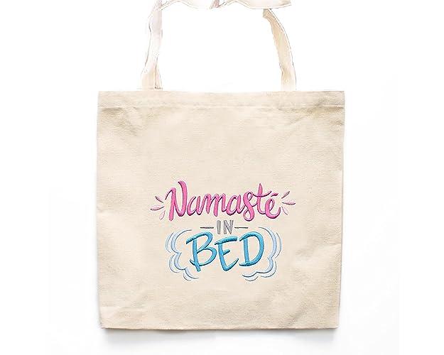 Amazon.com: Namaste In Bed Tote Bag-Yoga Tote Bags: Handmade
