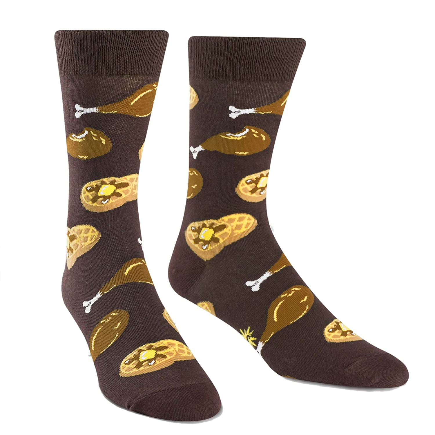 Sock It To Me Chicken + Waffles Men's Crew Socks MEF0211