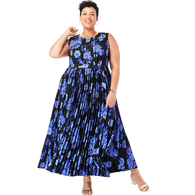 Jessica London Women\'s Plus Size Pleated Maxi Dress at Amazon ...