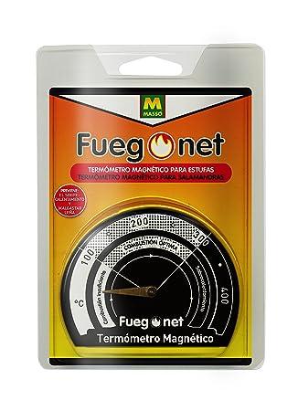Fuegonet 231301 Termómetro Magnético Negro 10.5x3x14.5 cm: Amazon.es: Jardín