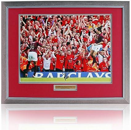 best service a17d6 a5b6e Robert Pirès hand signed 16x12'' Arsenal Invincibles photo ...