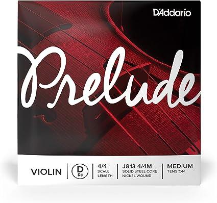 DAddario Prelude Violin Single D String 1//16 Scale Medium Tension