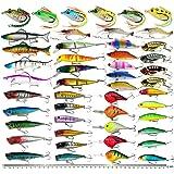 XBLACK Hard Fishing Lure Set Assorted Bass Soft Fishing Lure Kit Colorful Minnow Popper Crank Rattlin VIB Jointed Fishing Lur