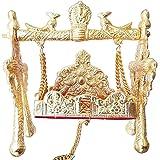 Krishna Carpet Beautiful Swing For All God Jhula(Aluminum,Gold)