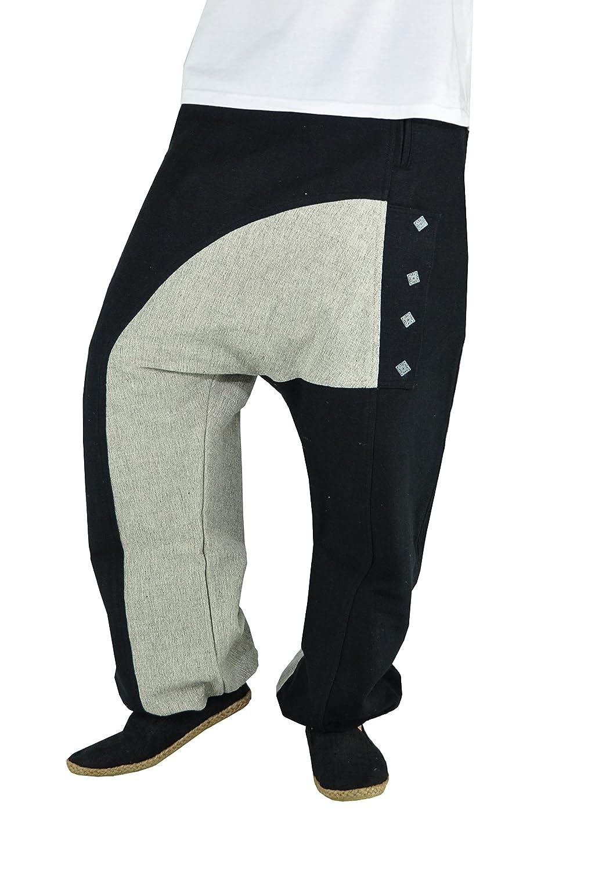 Pantaloni cavallo basso uomo con stoffa di alta qualità e design unico. Abbigliamento etnico di virblatt – Kopfkino 4260376356767