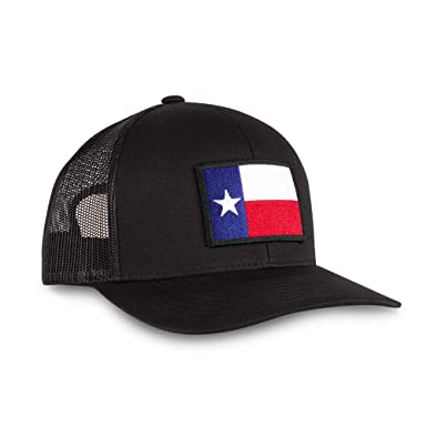 5eec42e2d2d Image Unavailable. Image not available for. Color  Haka Hat Texas State Flag  Patch Baseball Cap - Black Trucker ...