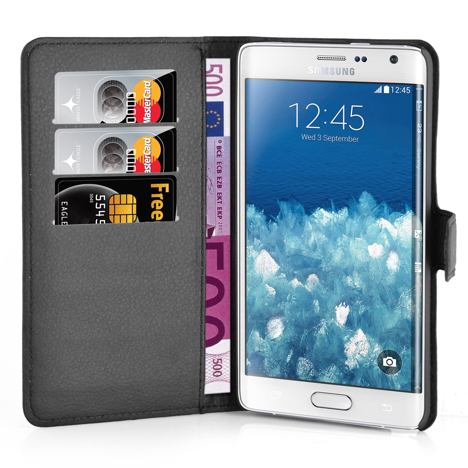 Cadorabo Coque pour Samsung Galaxy Note Edge Noir Phantom  Amazon.fr   High-tech 42ae4d141719