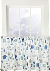 SKL HOME by Saturday Knight Ltd. Coffee Blues Curtain Tier Pair, 54