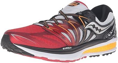 Saucony Men's Hurricane Iso 2 Running Shoe, GrayOrange, 14 D(M) US