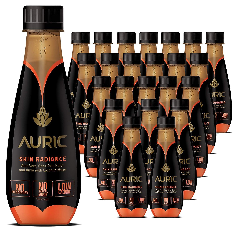 AURIC Glow Skin Natural Juice  Aloe Vera, Amla, Coconut Water  Skin  Radiance  10 bottles x 10ml
