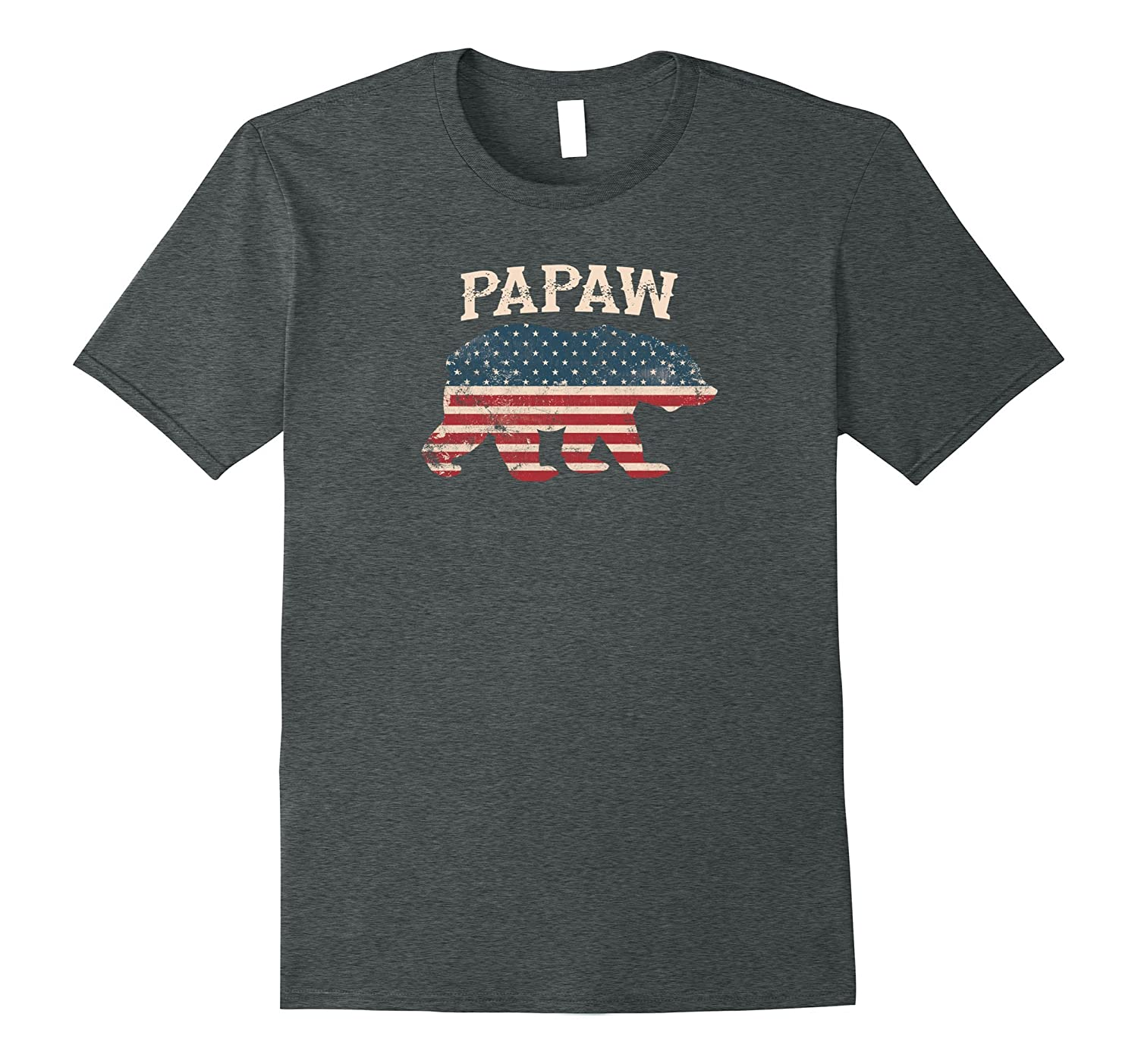 Papaw USA Flag Bear T Shirt – 4th of July Independence Day