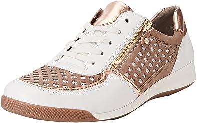 check out 5e1d9 7d80e ARA Damen Rom Sneaker, Weiß (Weiss, Rosegold/Taupe), 35 EU ...
