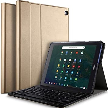 IVSO Acer Chromebook Tab 10 Tablet Case with Keyboard - Ultra Lightweight  Portfolio Detachable Wireless Keyboard Front Prop Stand Case/Cover for Acer