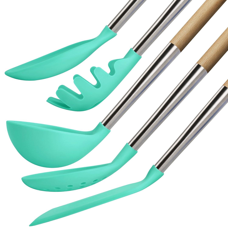 Amazon.com: TOPHOME Kitchen Utensils Cooking Utensils Nonstick ...