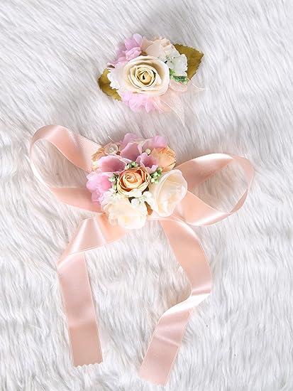 Amazon wedding prom wrist corsage silk rose and boutonniere set wedding prom wrist corsage silk rose and boutonniere set pin ribbon included rose gold theme mightylinksfo