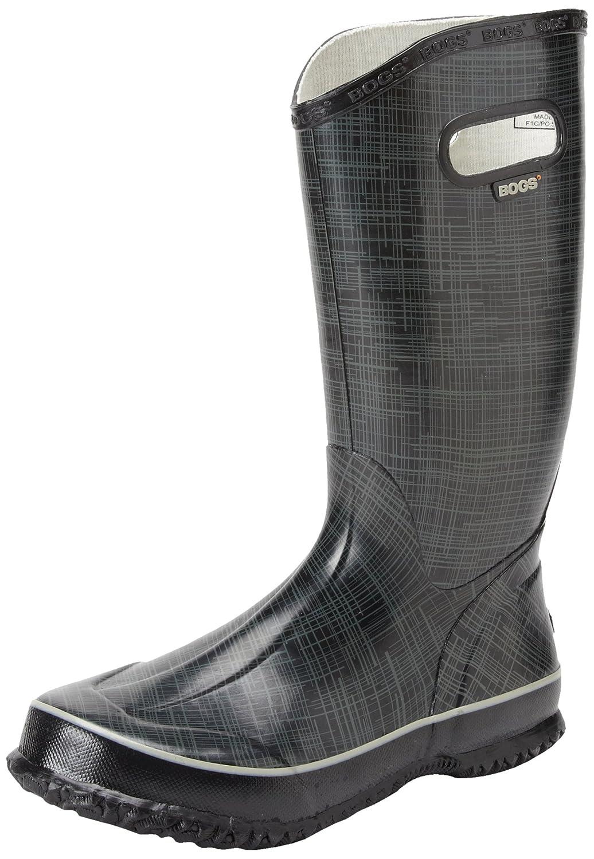 Bogs Women's Linen Rain Boot B00ARX7AK8 10 B(M) US|Black